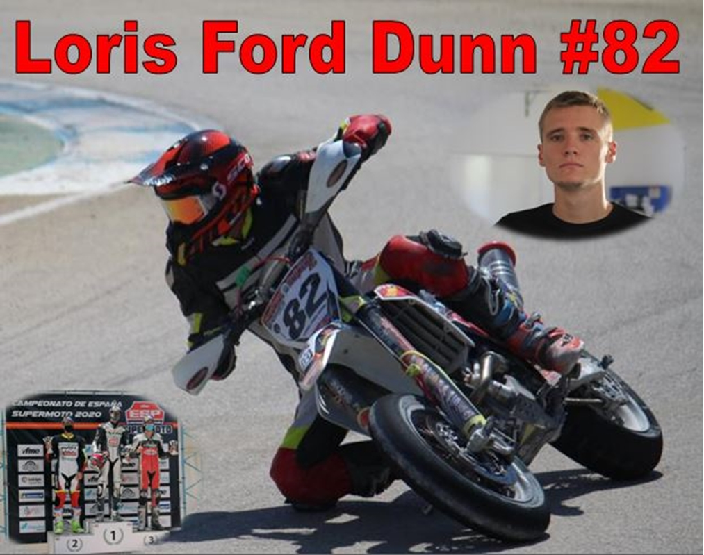 Loris Ford-Dunn leads the Spanish Supermoto championship